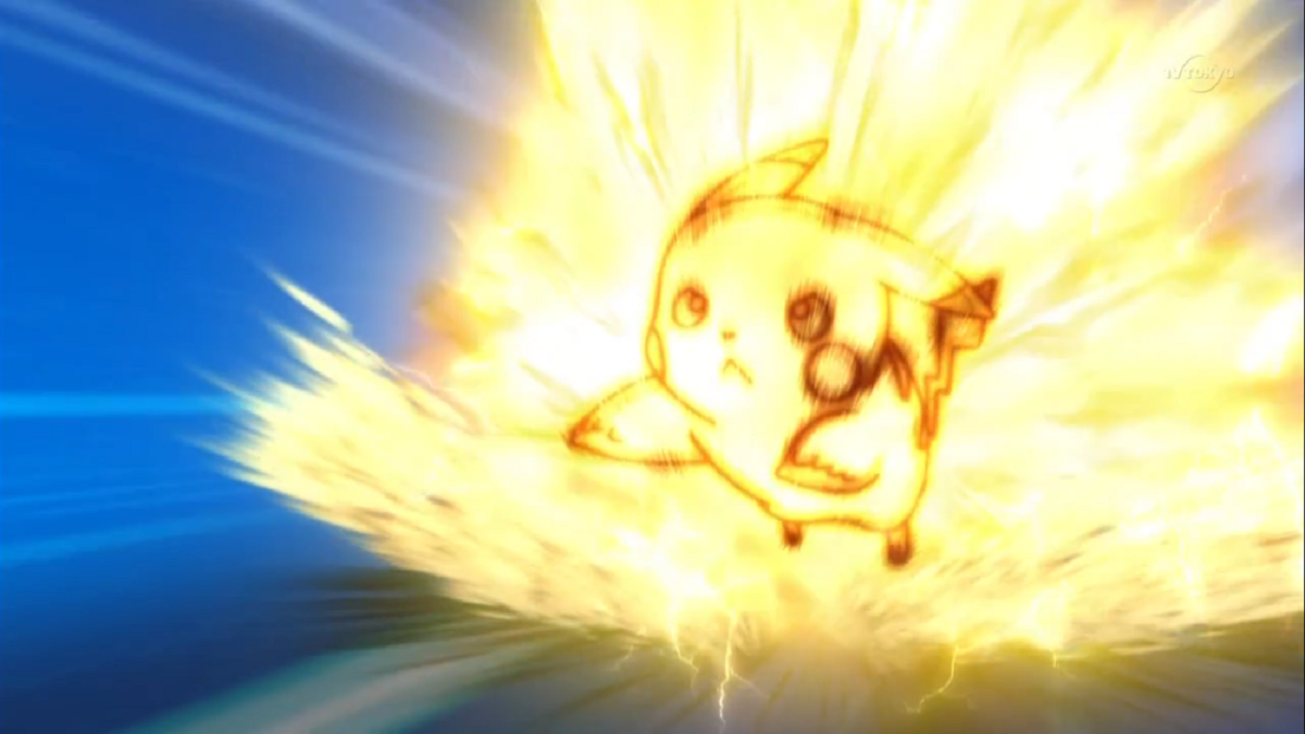 Pikachu using Volt Tackle