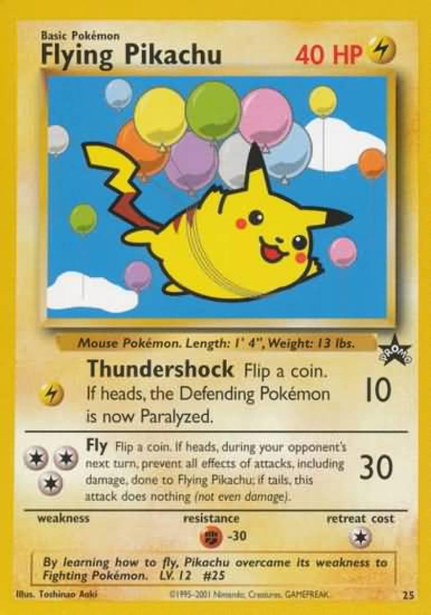 Flying Pikachu's trading card