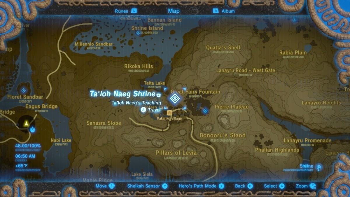 Kakariko Village Great Fairy Location