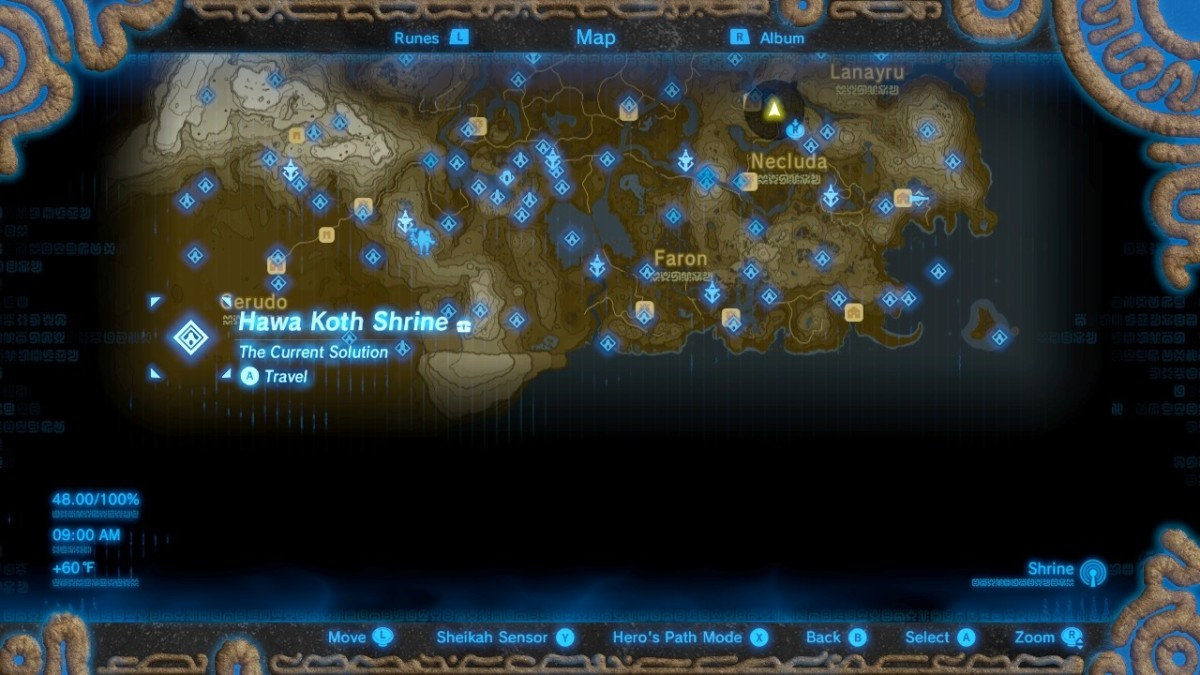 The Desert Fairy Fountain is at the Hawa Koth Shrine location at the bottom left-hand corner of the map.
