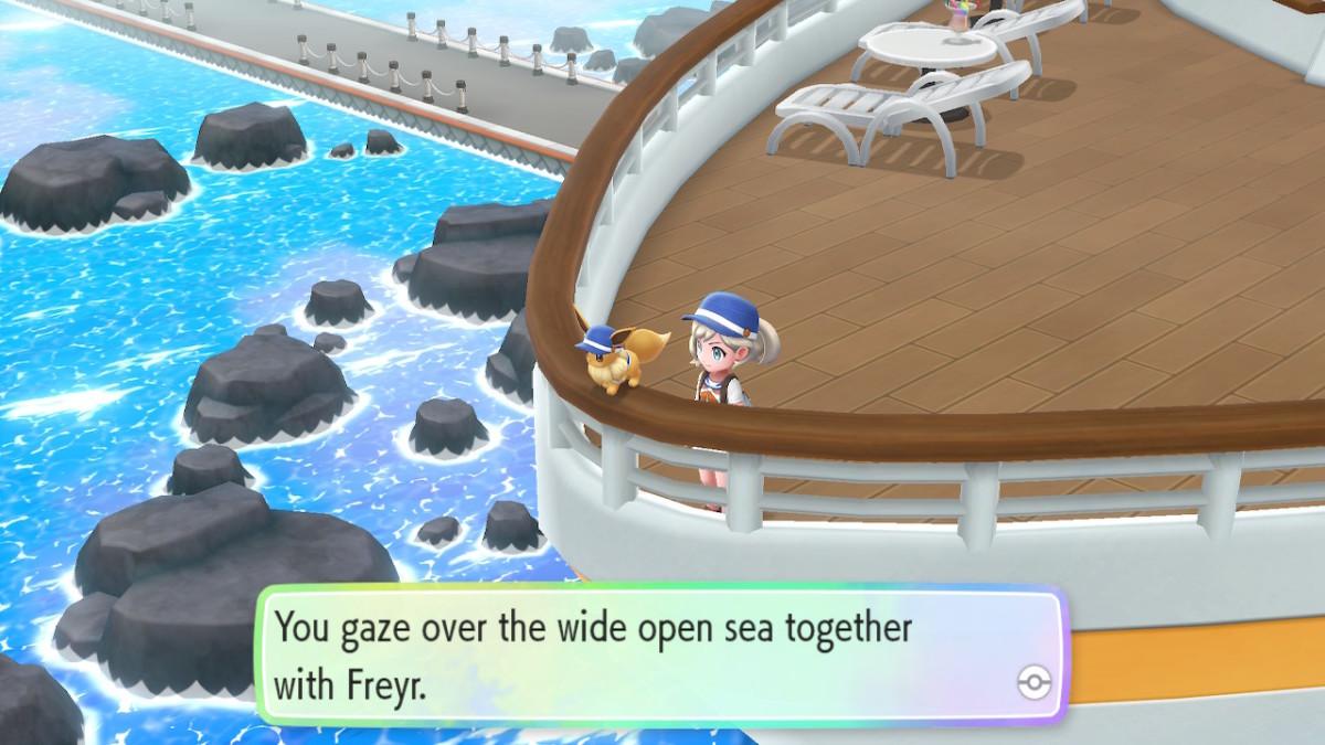 Eevee can be your partner Pokemon instead of Pikachu.