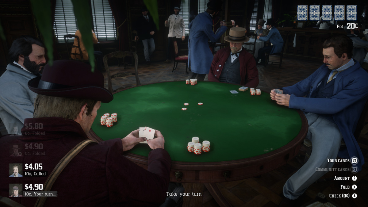 """Red Dead Redemption 2"" Gambler Challenges"