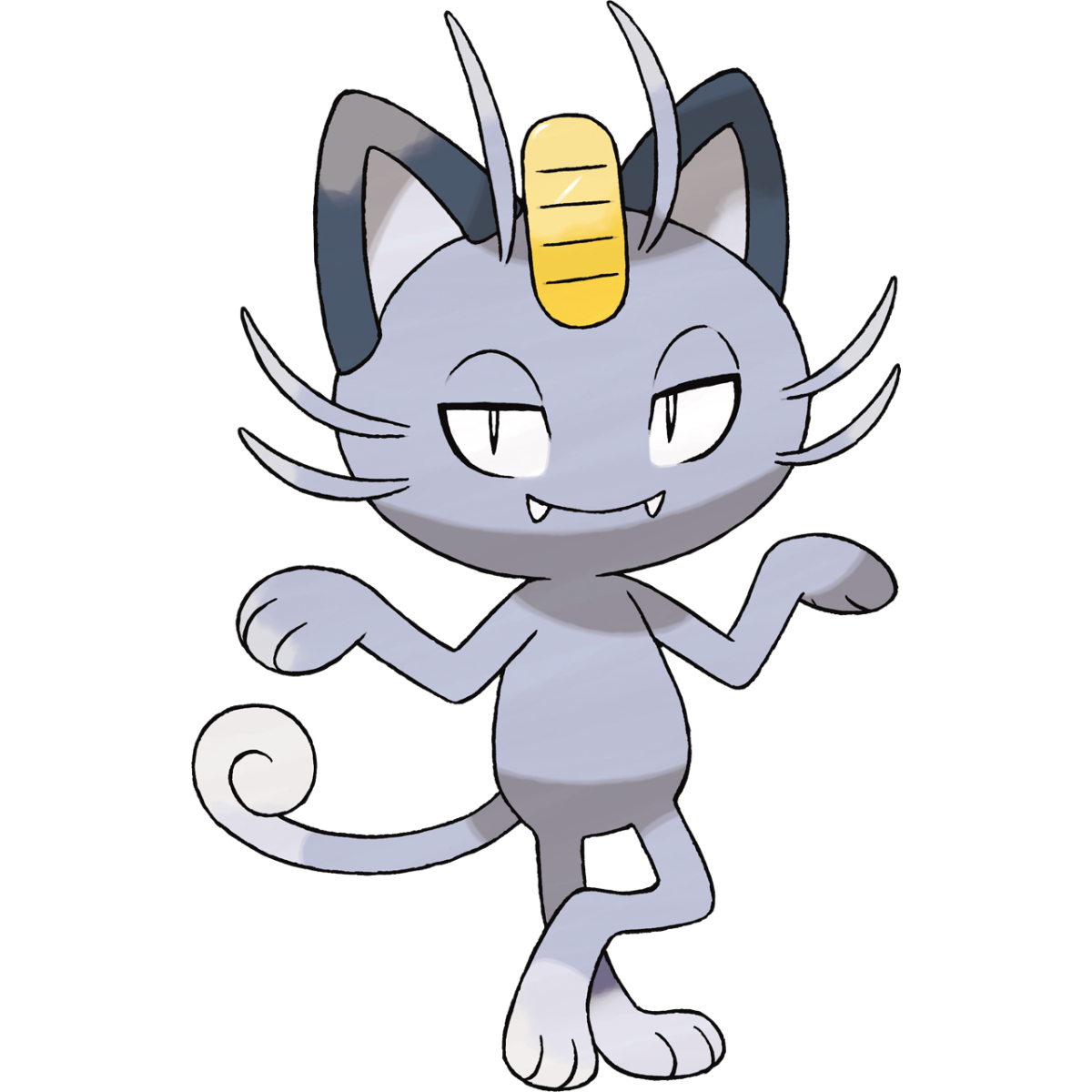 Alolan Meowth, official art by Ken Sugimori