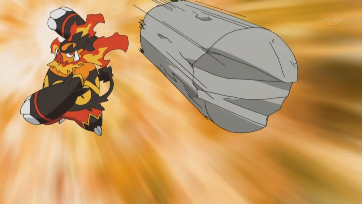 Emboar using Fling