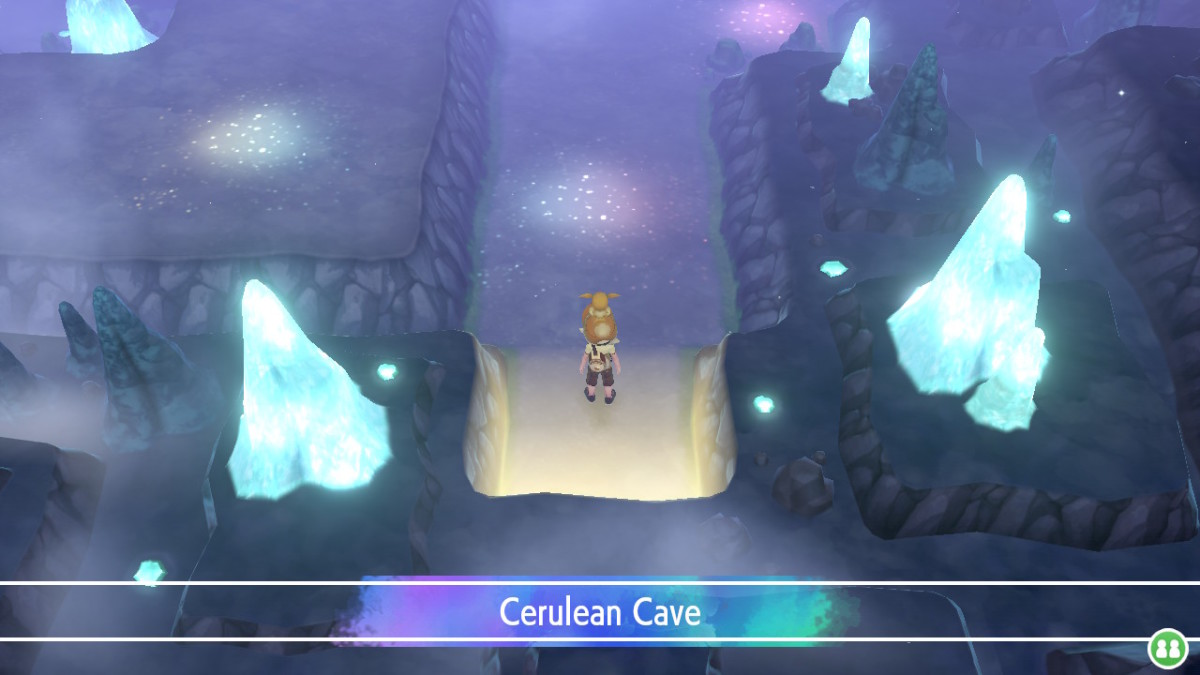 Immediately inside Cerulean Cave