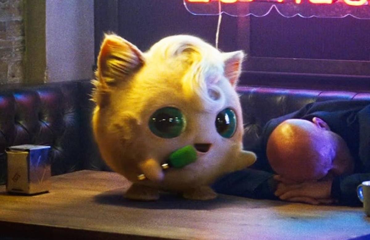 Jigglypuff features fluffy cat-like fur, nice ear furnishings, and the general creepiness factor that all of the Pokemon were given in Detective Pikachu.