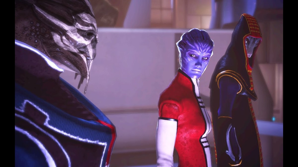 The council as they appeared in the first Mass Effect.