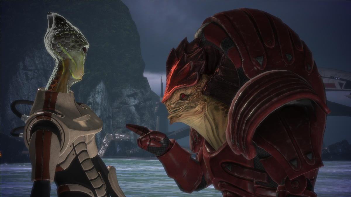 Wrex calling out Kirrahe's racist remark.