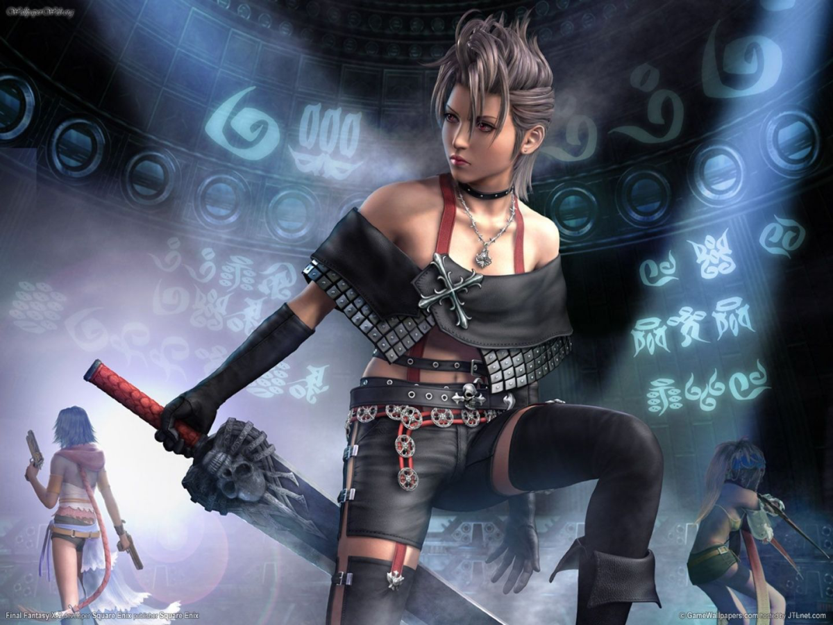 "Paine is a playable female character in ""Final Fantasy X-2."""
