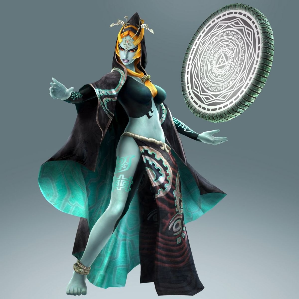 Midna, once she sheds the imp form Ganon forced her to take.