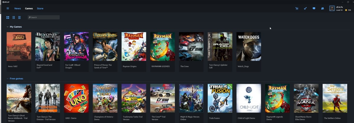 My Uplay game Library.