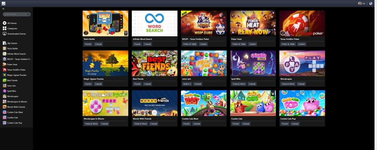 My games on Facebook Gameroom.