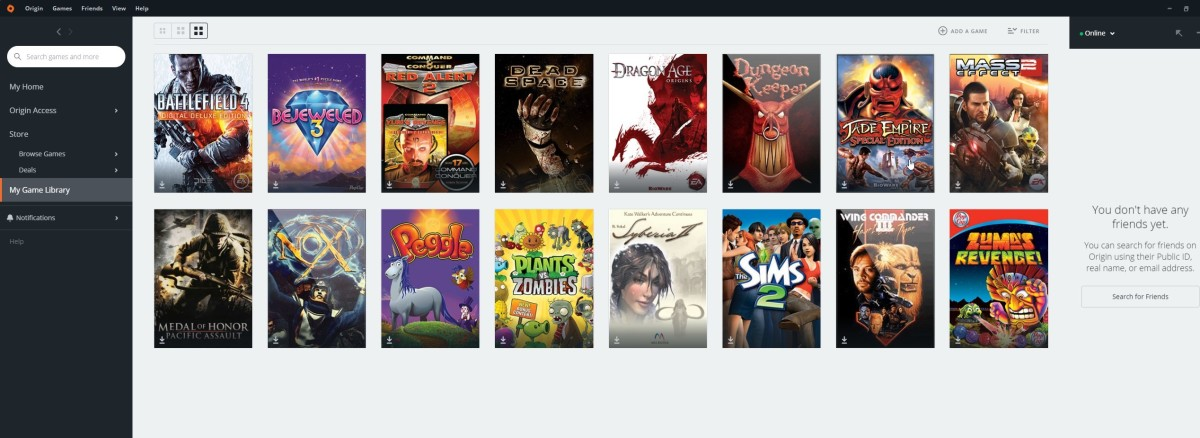 These are the games I own on Origin.