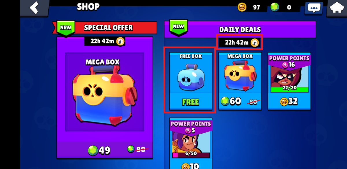 Free box today!