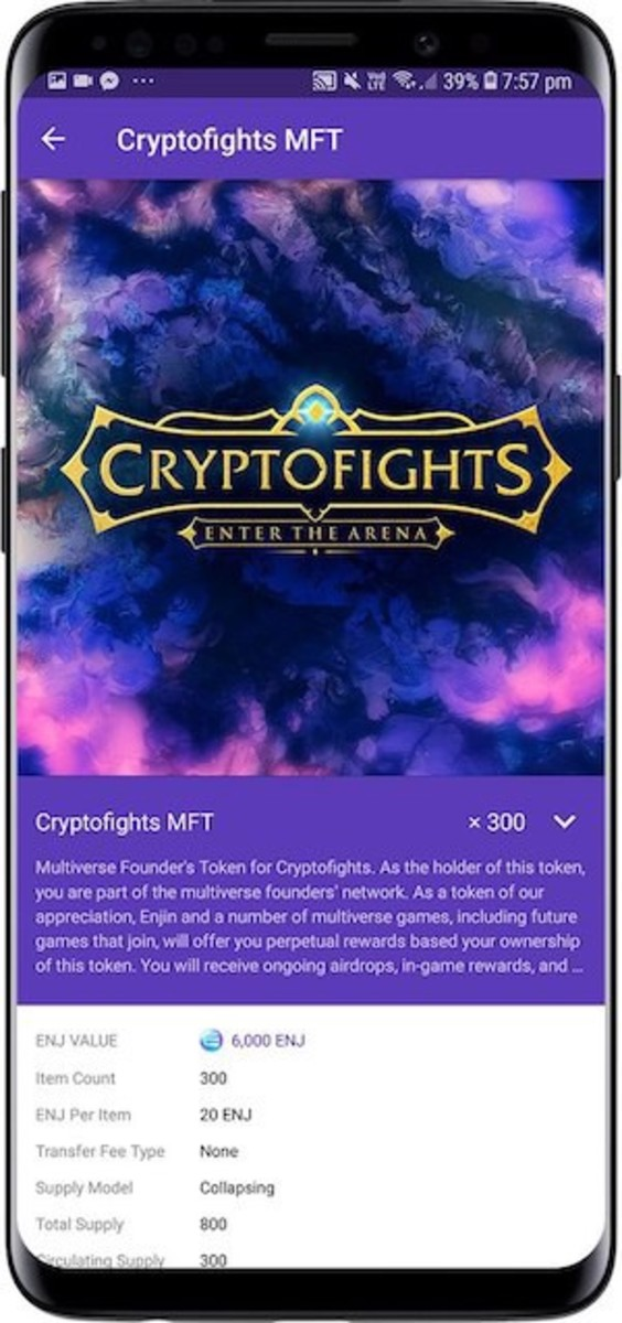 CryptoFights Multiverse Founder's Token