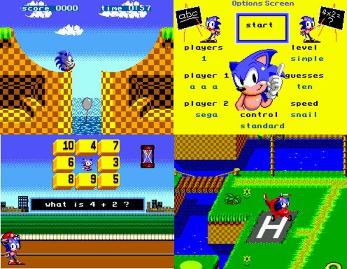 Sonic's Edusoft . -  Master System  -  1991