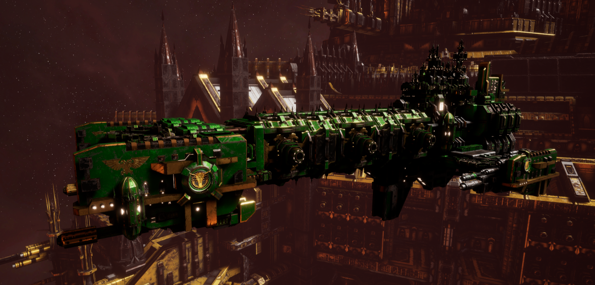 Adeptus Astartes Light Cruiser - Vanguard MK.II (Salamanders Sub-Faction)