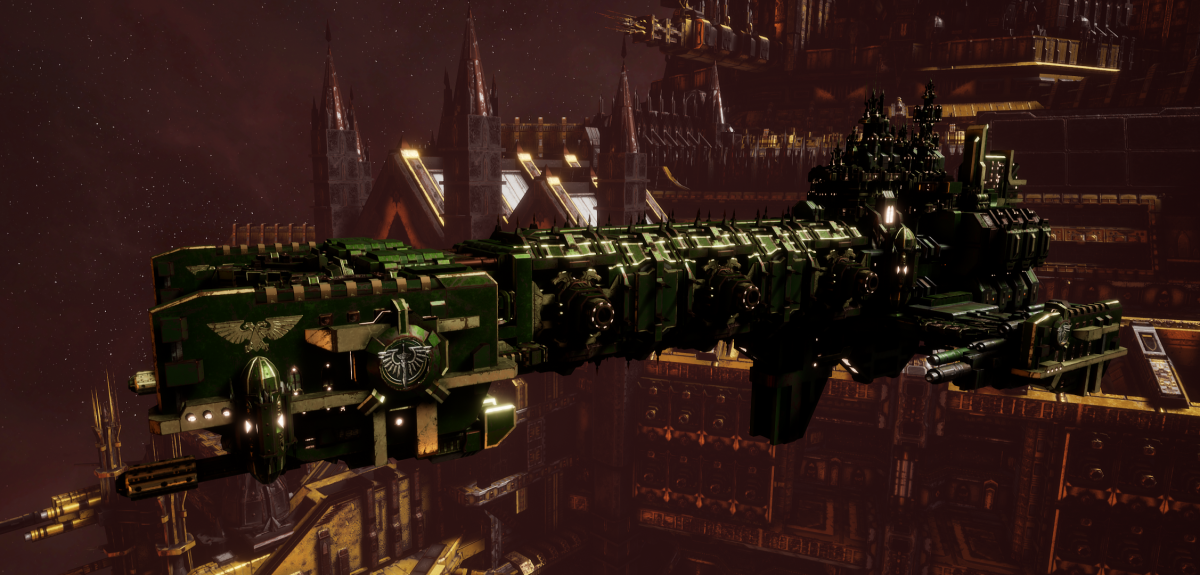 Adeptus Astartes Light Cruiser - Vanguard MK.II (Dark Angels Sub-Faction)