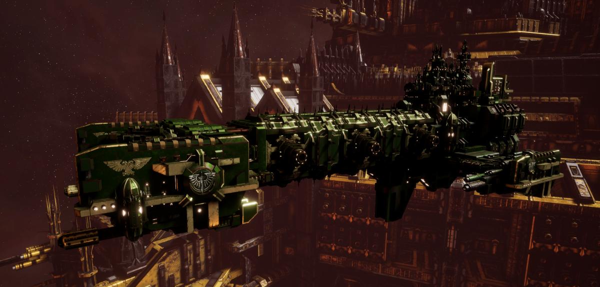 Adeptus Astartes Light Cruiser - Vanguard MK.II (Dark Angels Sub-Faction)