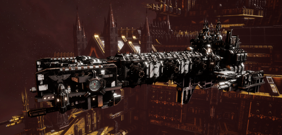 Adeptus Astartes Light Cruiser - Vanguard MK.II (Raven Guards Sub-Faction)