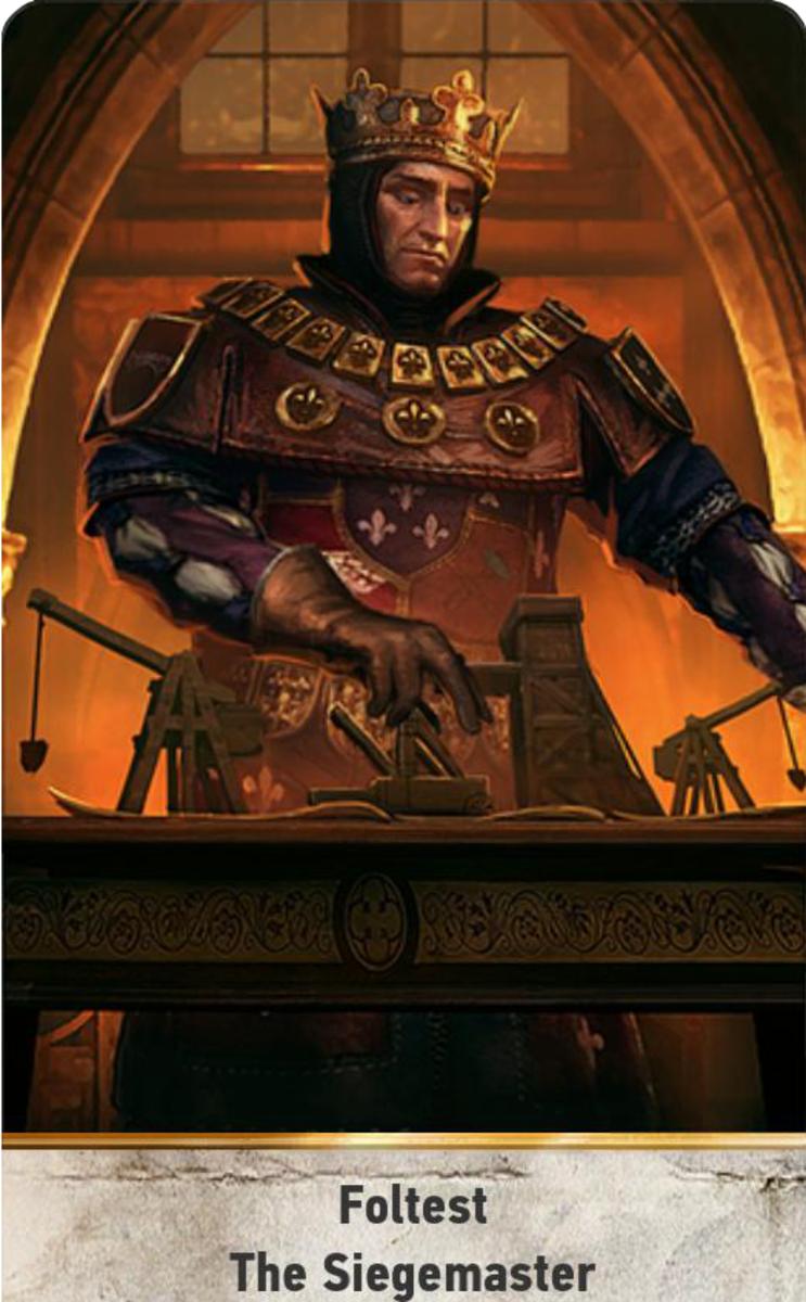 Foltest: The Siegemaster Leader Card