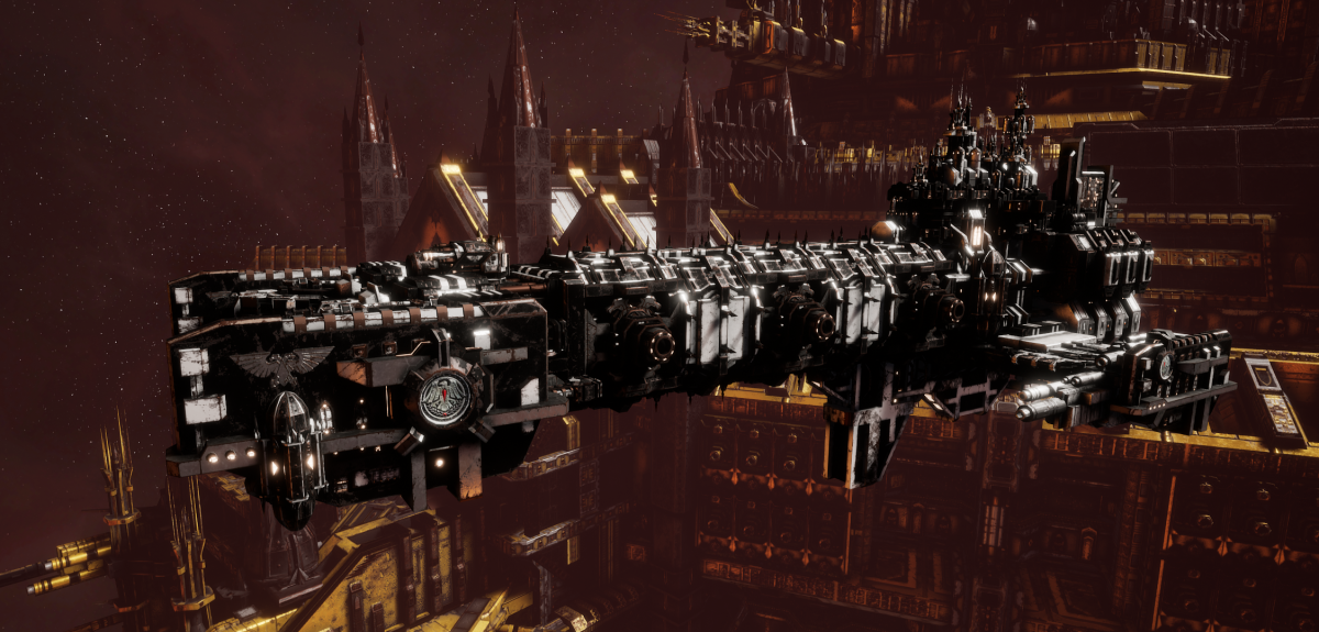Adeptus Astartes Light Cruiser - Vanguard MK.III (Raven Guards Sub-Faction)