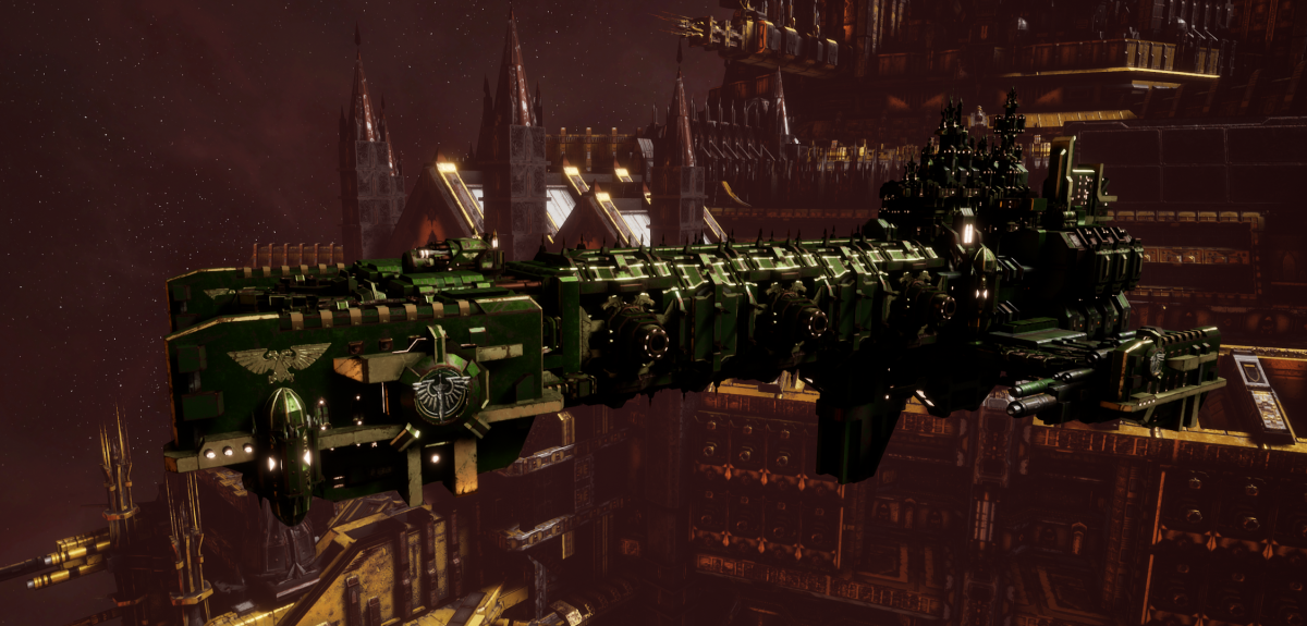 Adeptus Astartes Light Cruiser - Vanguard MK.III (Dark Angels Sub-Faction)