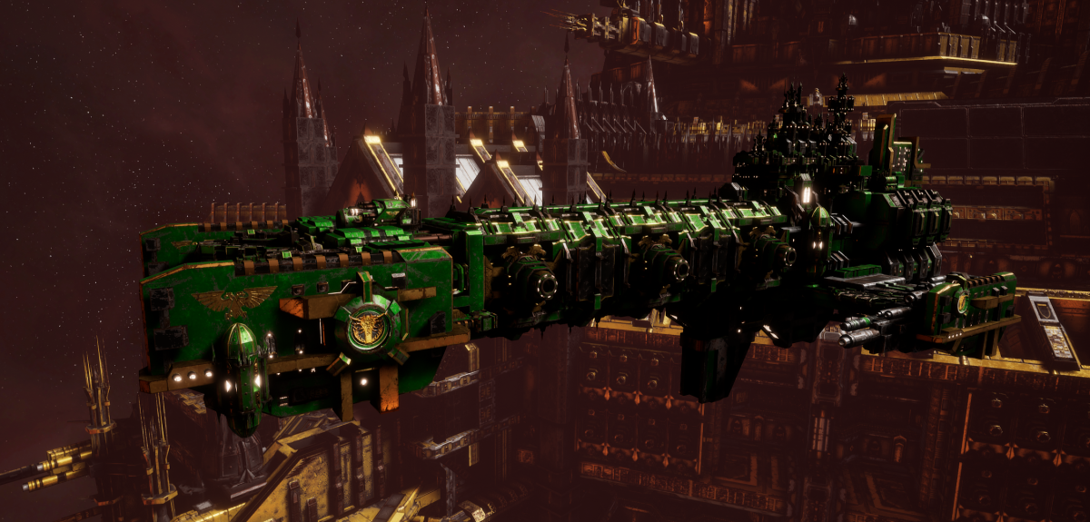 Adeptus Astartes Light Cruiser - Vanguard MK.III (Salamanders Sub-Faction)