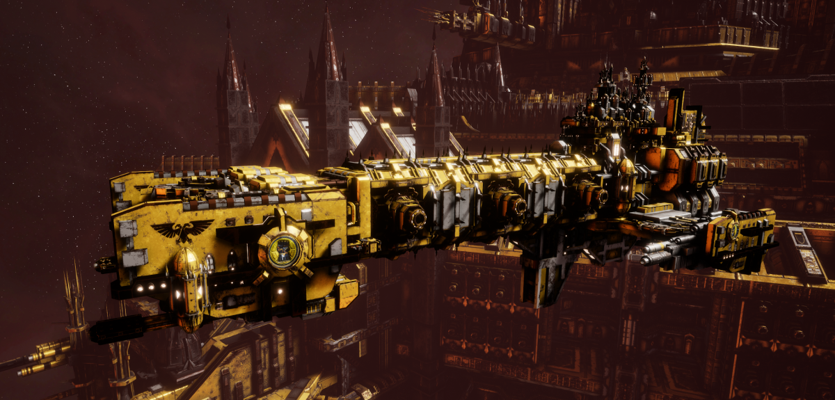 Adeptus Astartes Light Cruiser - Vanguard MK.II (Imperial Fists Sub-Faction)
