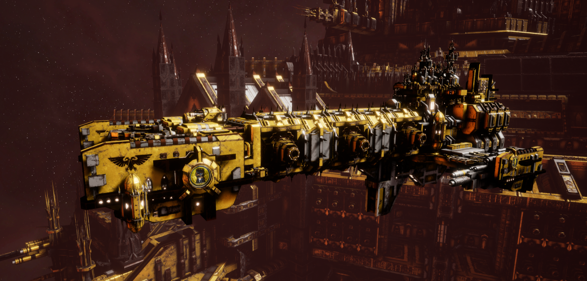 Adeptus Astartes Light Cruiser - Vanguard MK.III (Imperial Fists Sub-Faction)