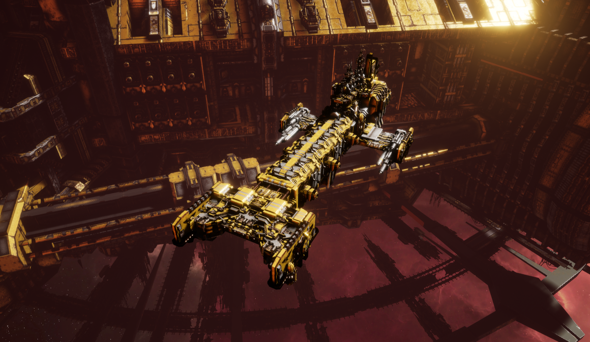 Adeptus Astartes Light Cruiser - Vanguard MK.I (Imperial Fists Sub-Faction)