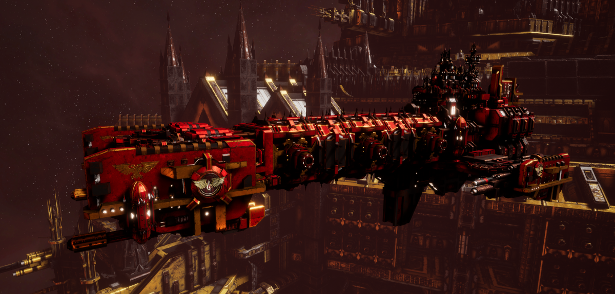 Adeptus Astartes Light Cruiser - Vanguard MK.II (Blood Angels Sub-Faction)