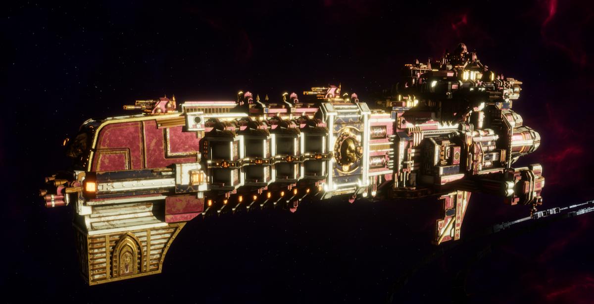 Adeptus Mechanicus Light Cruiser - Defiant (Lucius Faction)