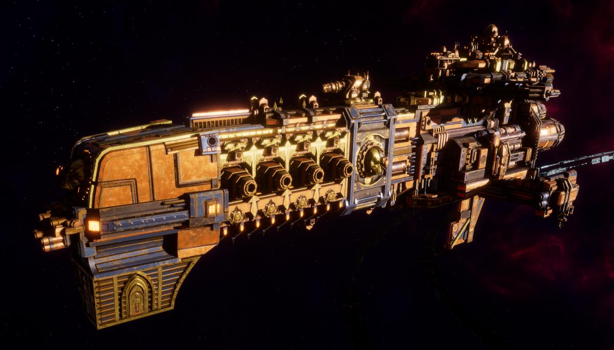 Adeptus Mechanicus Light Cruiser - Endeavor (Ryza Faction)