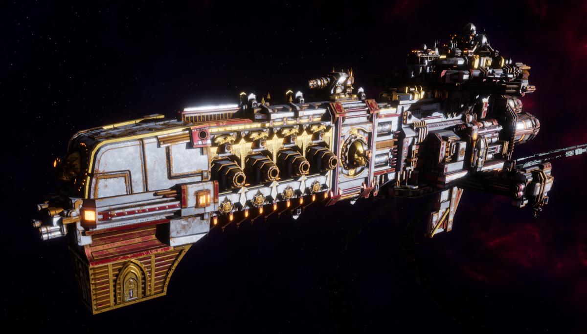 Adeptus Mechanicus Light Cruiser - Endeavor (Metalica Faction)