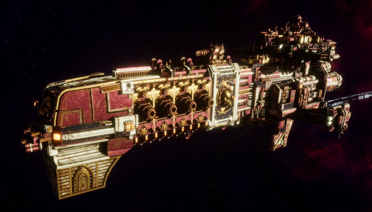 Adeptus Mechanicus Light Cruiser - Endeavor (Lucius Faction)