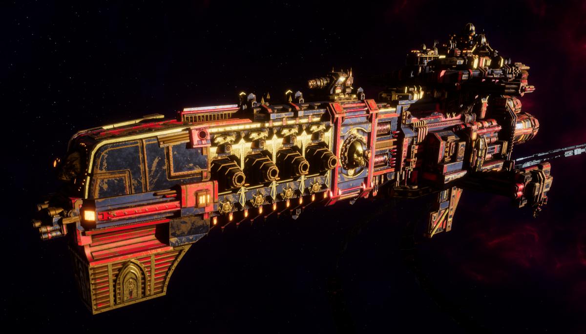 Adeptus Mechanicus Light Cruiser - Endeavor (Stygies VIII Faction)