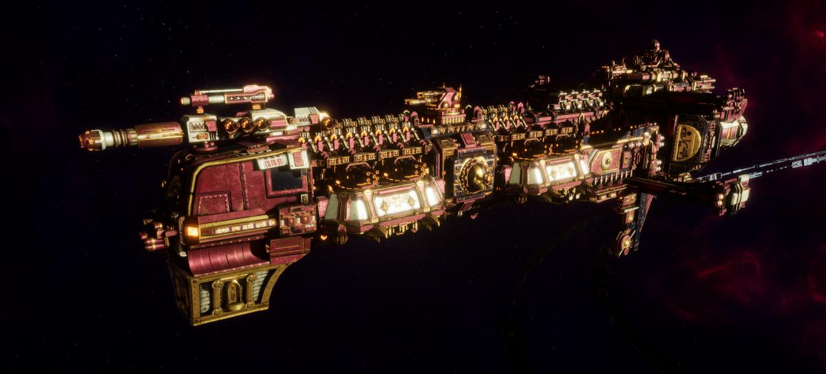 Adeptus Mechanicus Cruiser - Gothic (Lucius Faction)