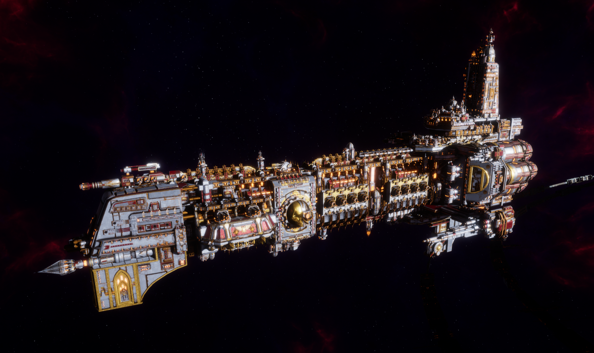 Adeptus Mechanicus Battleship - Ark Mechanicus (Metalica Faction)