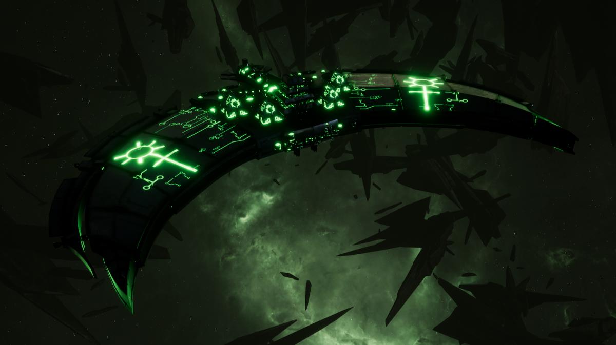 Necron Frigate - Jackal (Charnovokh Sub-Faction)