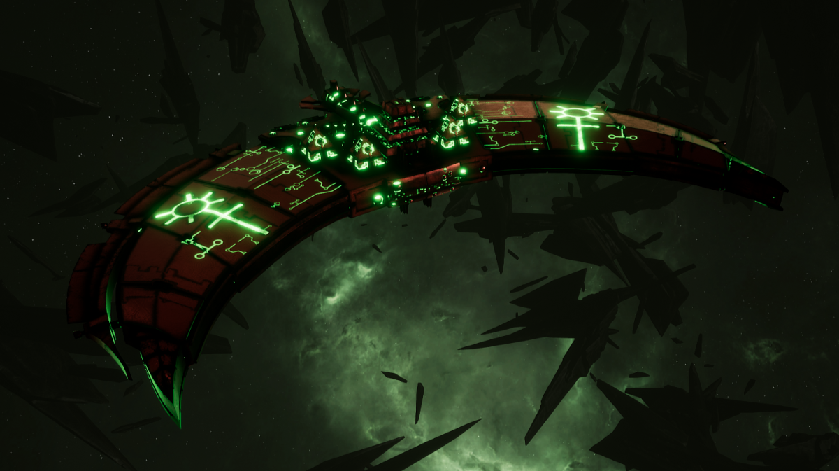 Necron Frigate - Jackal (Novokh Sub-Faction)