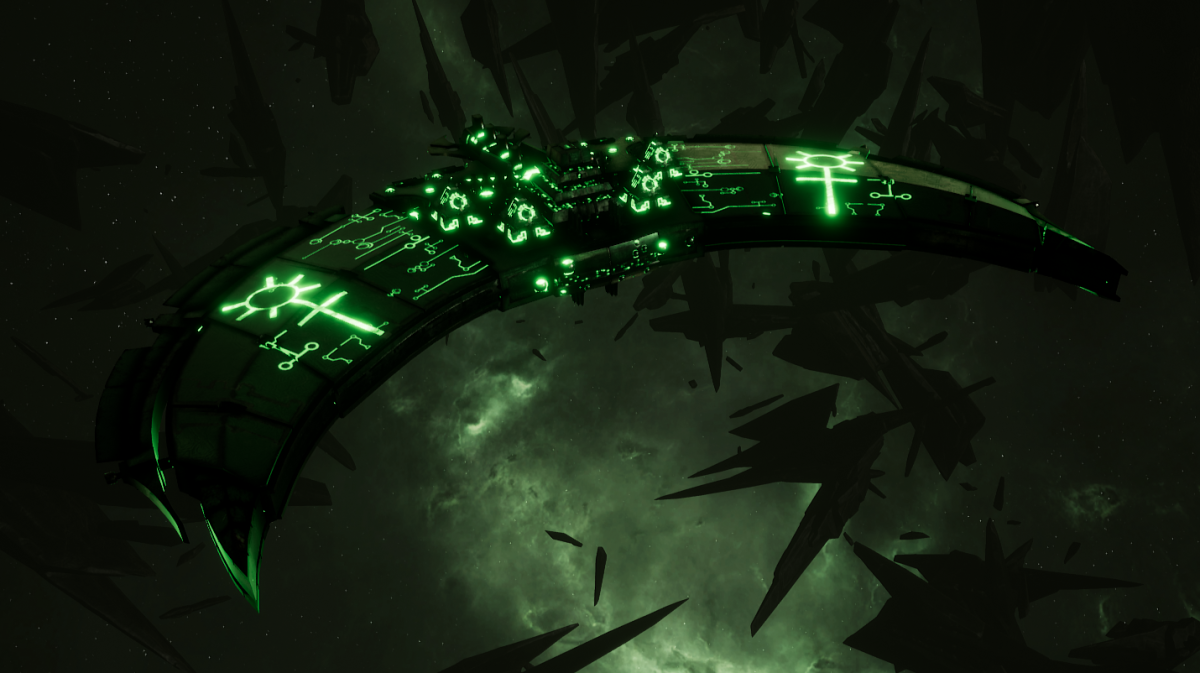 Necron Frigate - Jackal (Temeryn Sub-Faction)