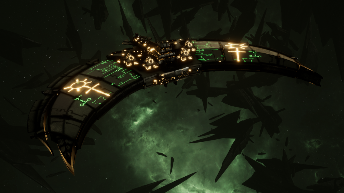 Necron Frigate - Jackal (Mephrit Sub-Faction)