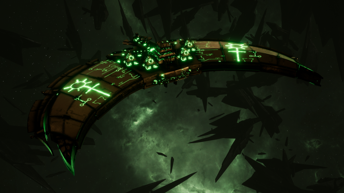 Necron Frigate - Jackal (Nephrekh Sub-Faction)
