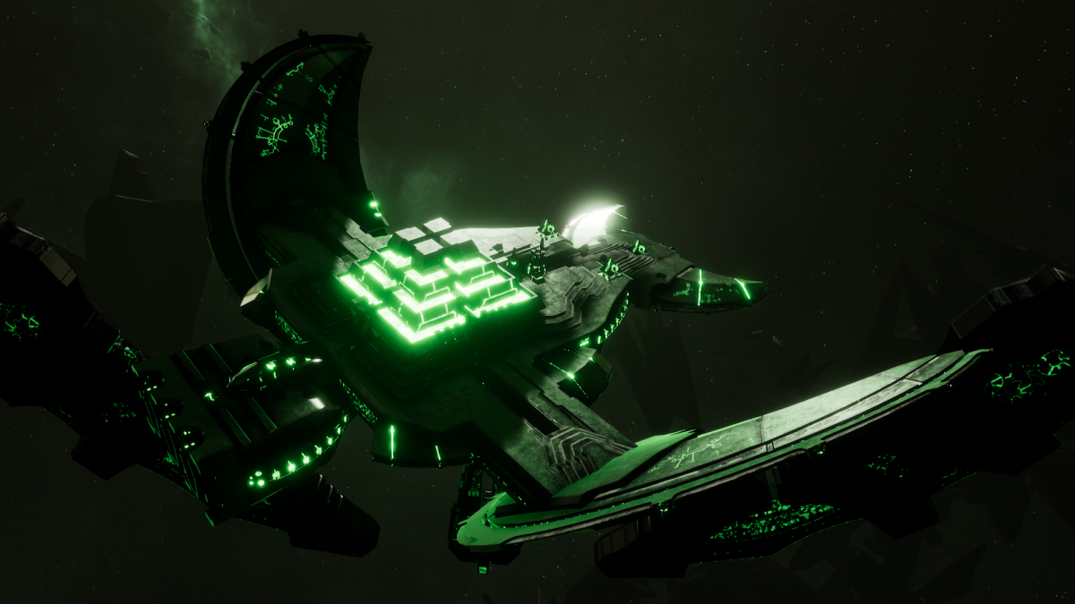 Necron Light Cruiser - Khopesh (Temeryn Sub-Faction)