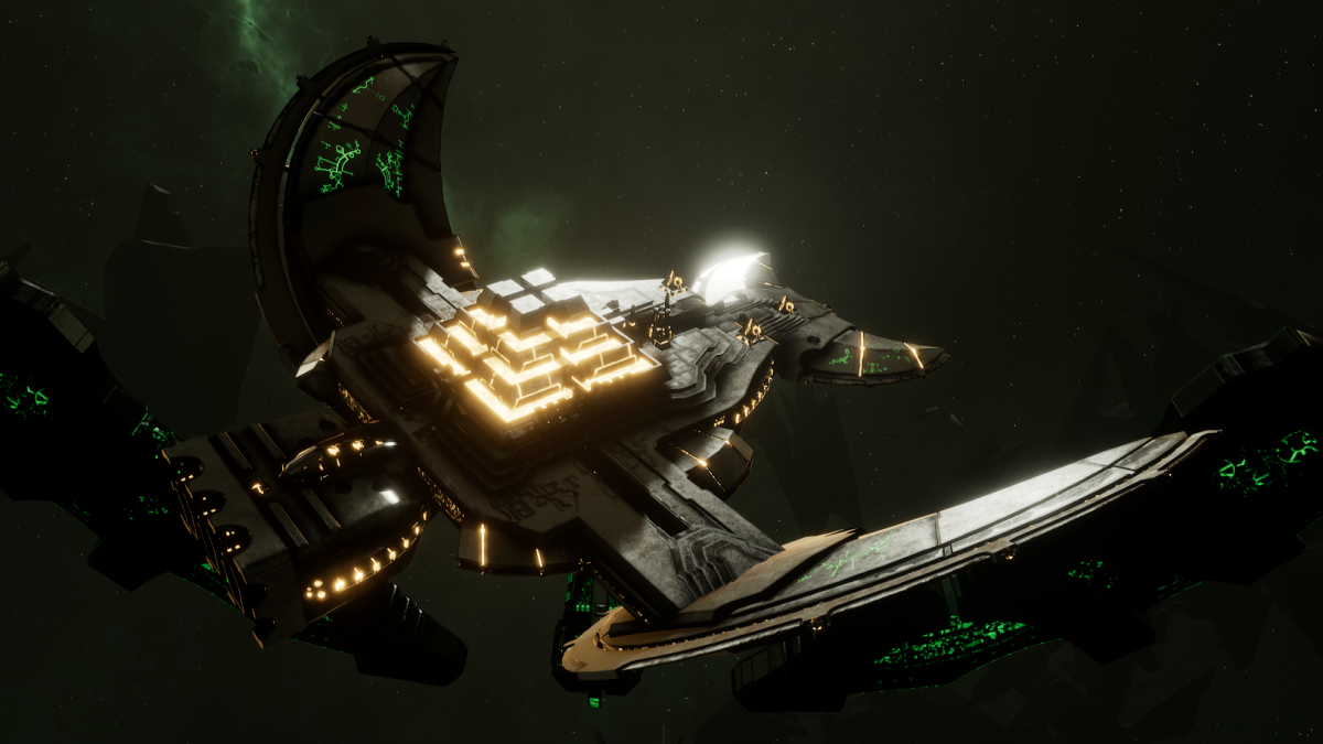 Necron Light Cruiser - Khopesh (Mephrit Sub-Faction)