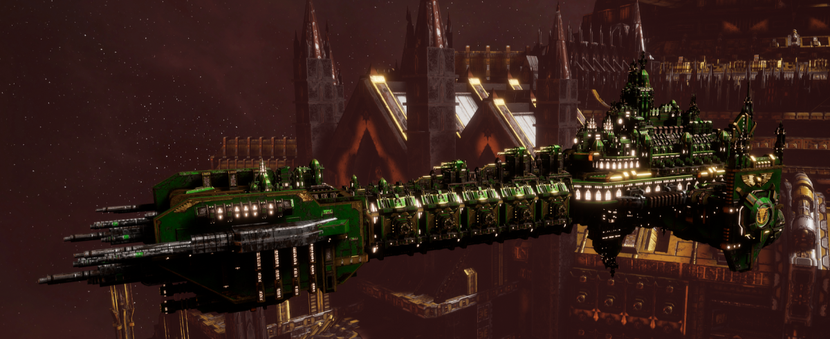 Adeptus Astartes Battleship - Battle Barge MK.II (Salamanders Sub-Faction)