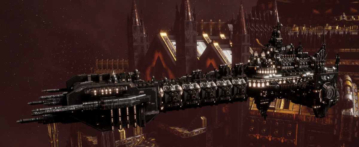 Adeptus Astartes Battleship - Battle Barge MK.I (Iron Hands Sub-Faction)