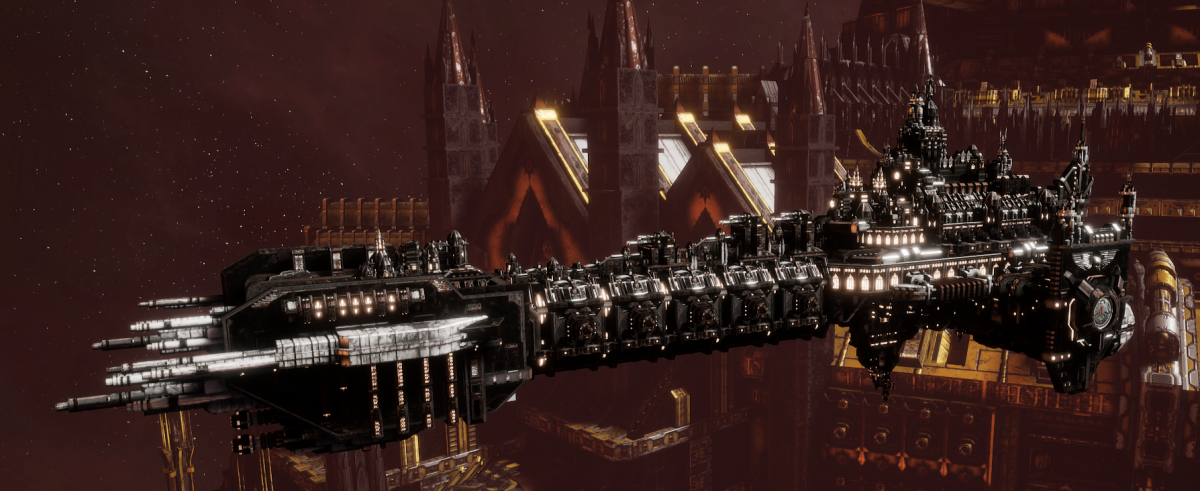 Adeptus Astartes Battleship - Battle Barge MK.II (Raven Guards Sub-Faction)