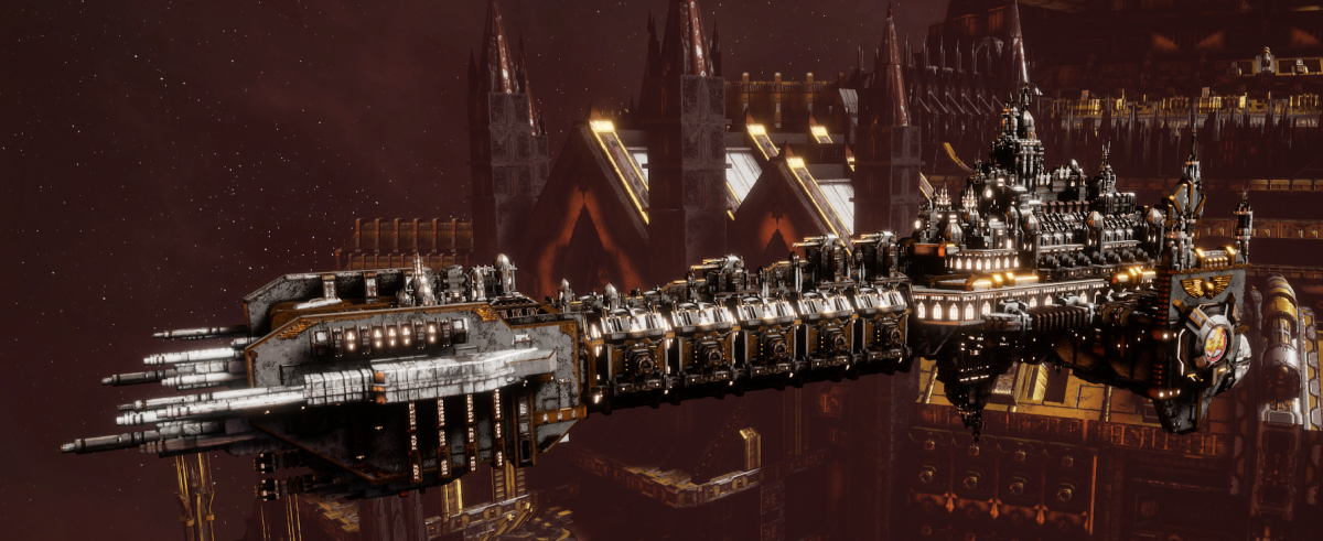 Adeptus Astartes Battleship - Battle Barge MK.II (White Scars Sub-Faction)